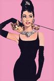 Audrey Hepburn – Pink Plakater af Unknown,