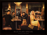 Blue Plate Special Print by Chris Consani