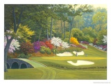 12th Hole at Augusta Lámina por Charles White