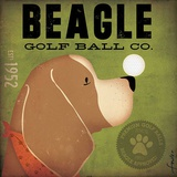 Beagle Golf Ball Co. Poster von Stephen Fowler