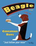 Beagle Buns Poster por Ken Bailey