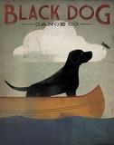 Black Dog Canoe Co. Affiches par Ryan Fowler