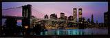 Brooklyn Bridge og New York City Skyline Posters af Richard Sisk