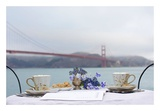 Dream Cafe Golden Gate Bridge 54 Posters by Alan Blaustein