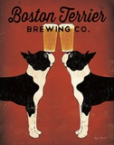 Boston Terrier Brewing Co. Poster von Ryan Fowler