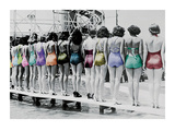 Coney Island Line Up, 1935 Print by  Unknown
