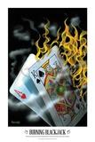 Burning Blackjack Arte por Michael Godard