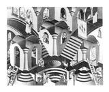 Concave et convexe Affiches par M. C. Escher