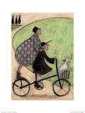 Double Decker Bike Affiche par Sam Toft