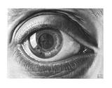 Oeil Affiche par M. C. Escher