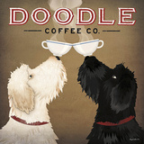 Doodle Coffee Double IV Print by Ryan Fowler