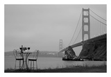 Dream Cafe Golden Gate Bridge 36 Poster by Alan Blaustein