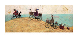 Electric Bike Ride Print by Sam Toft