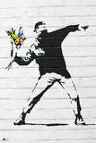 Flower Bomber Print by  Banksy