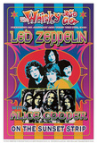 Led Zeppelin, Alice Cooper Poster di Dennis Loren