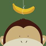 Peek-a-Boo Monkey Print by Yuko Lau