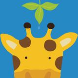 Peek-a-Boo Giraffe Posters tekijänä Yuko Lau