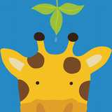 Peek-a-Boo Giraffe Posters por Yuko Lau