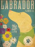 Labrador Flower Co. Poster von Stephen Fowler
