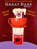 Great Dane Brand Coffee Pôsters por Ken Bailey