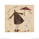 Lovely Weather For Ducks Print by Sam Toft