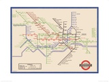 London Underground Map, Harry Beck, 1933 Kunstdrucke von  Transport for London