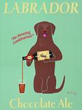 Labrador Chocolate Ale Posters por Ken Bailey