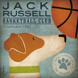 Jack Russell Basketball Poster von Stephen Fowler