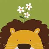 Peek-a-Boo Lion Art par Yuko Lau