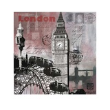 Sparkly Evening in London Art by Martine Rupert