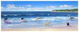 Hot Dogs Surf Prints by Carol Saxe