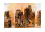New Yorker & Cabs Posters by Colin Ruffell