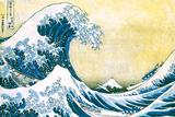 The Great Wave Off Kanagawa Poster di Katsushika Hokusai