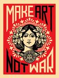 Make Art Not War 高品質プリント : シェパード・フェアリ