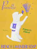 Poodle French Lavender Soap Poster by Ken Bailey
