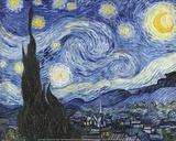 Noite estrelada Pôsters por Vincent van Gogh
