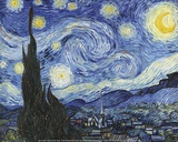 Starry Night Print by Vincent van Gogh