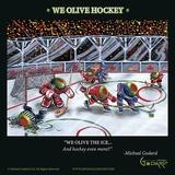 We Olive Hockey Kunstdrucke von Michael Godard