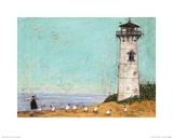 Seven Sisters and a Lighthouse Kunstdruck von Sam Toft