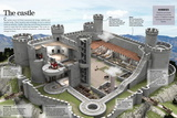Infographic About a Medieval Castle Where Kings, Nobles and Lords Cohabited Poster