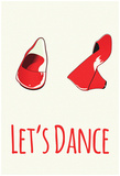 Let's Dance Red Shoes Stampe