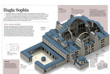 Infographic About the Hagia Sophia, the Biggest Cathedral of the Byzantine Empire (6th Century) Prints