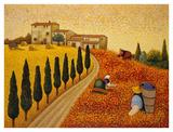 Village Landscape Posters by Lowell Herrero