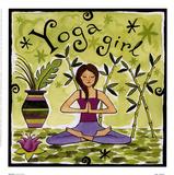 Yoga Girl Art by Jennifer Brinley
