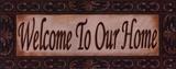 Welcome To Our Home Kunstdrucke von Grace Pullen