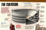 Infographic of the Roman Coliseum Pôsteres