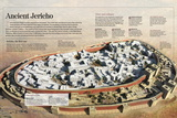 Infographic About the Prehistoric City of Jericho (9000 BC) on the West Bank Print