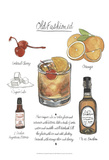Classic Cocktail - Old Fashioned Poster por Naomi McCavitt