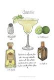 Classic Cocktail - Margarita Art by Naomi McCavitt