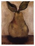Golden Pear On Beige Poster af Nicole Etienne